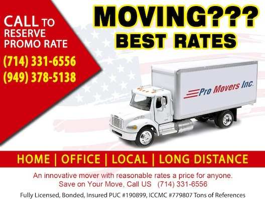 Pro Movers Inc   Home Movers   Orange County Business